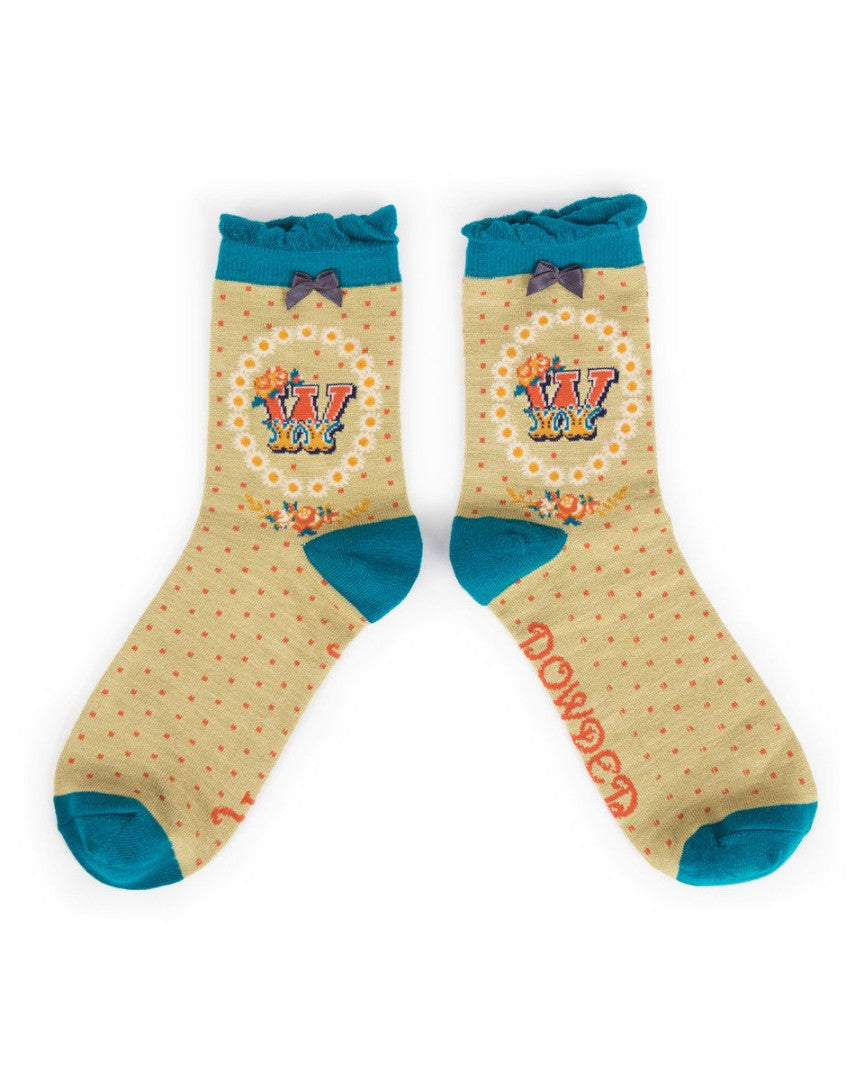 A-Z  Ladies Powder Socks - W