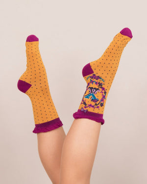 A-Z  Ladies Powder Socks - X