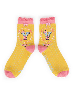 A-Z  Ladies Powder Socks - Y