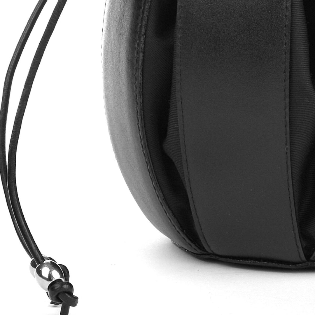 By-Lin Tulip Leather Bag - Black with Black Lining
