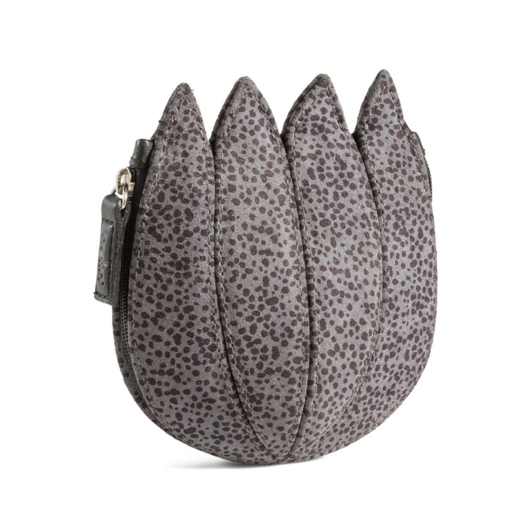 Tulip Leather Purse - Pebbles