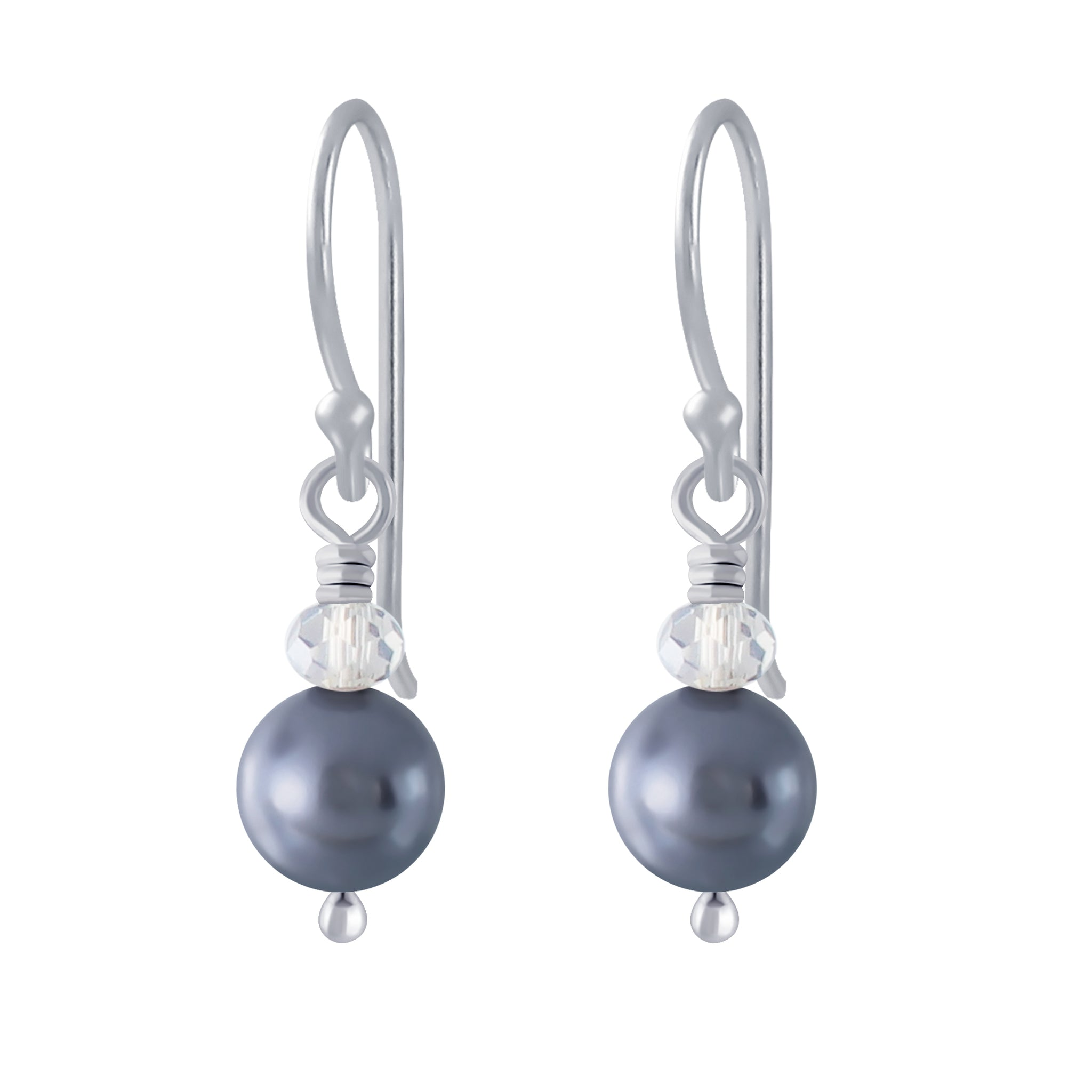 Silver Handmade Pearl Earrings