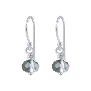 Silver Handmade Bead Earrings - Silver Night