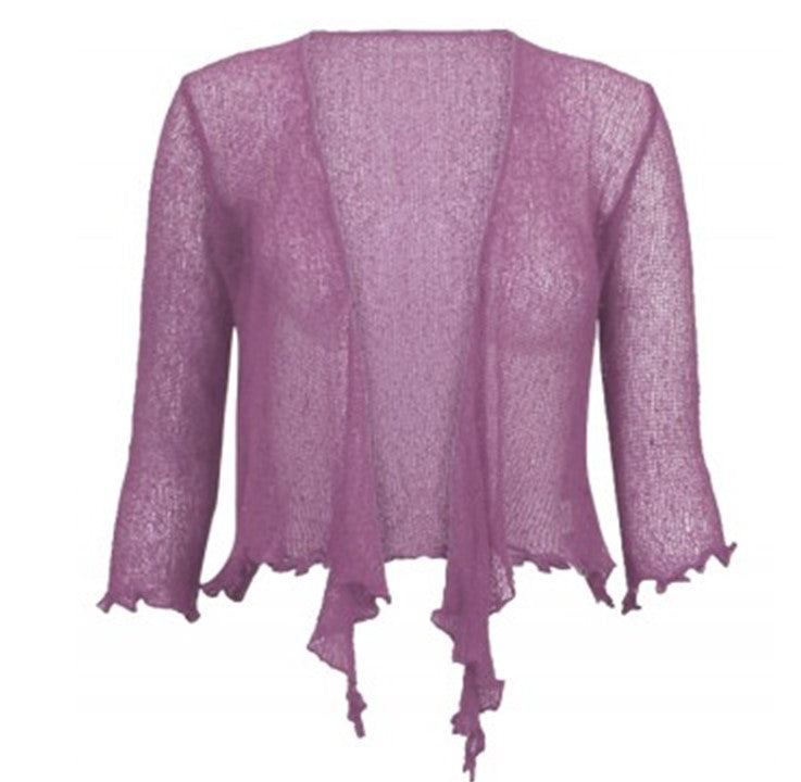 Knitted Shrug Cardigan - Lilac