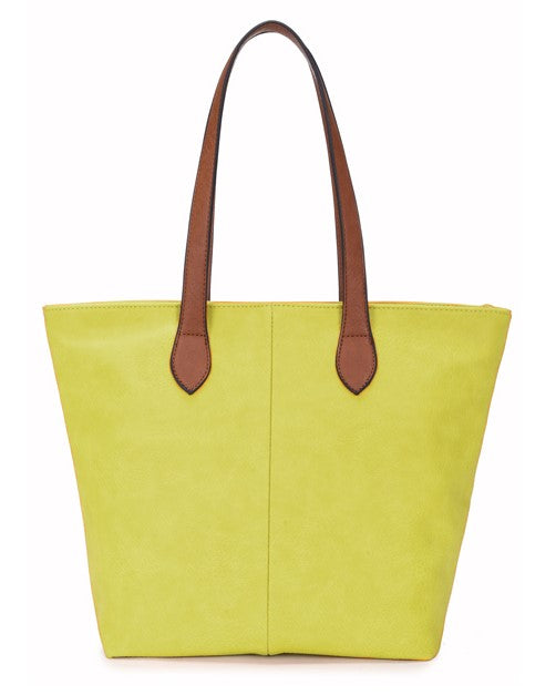 Ladies Tote Bag - Lime Green