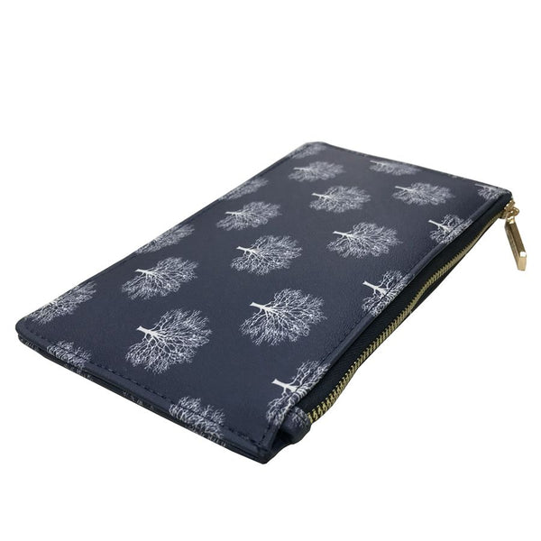 Navy Trees Small Printed Purse by Red Cuckoo