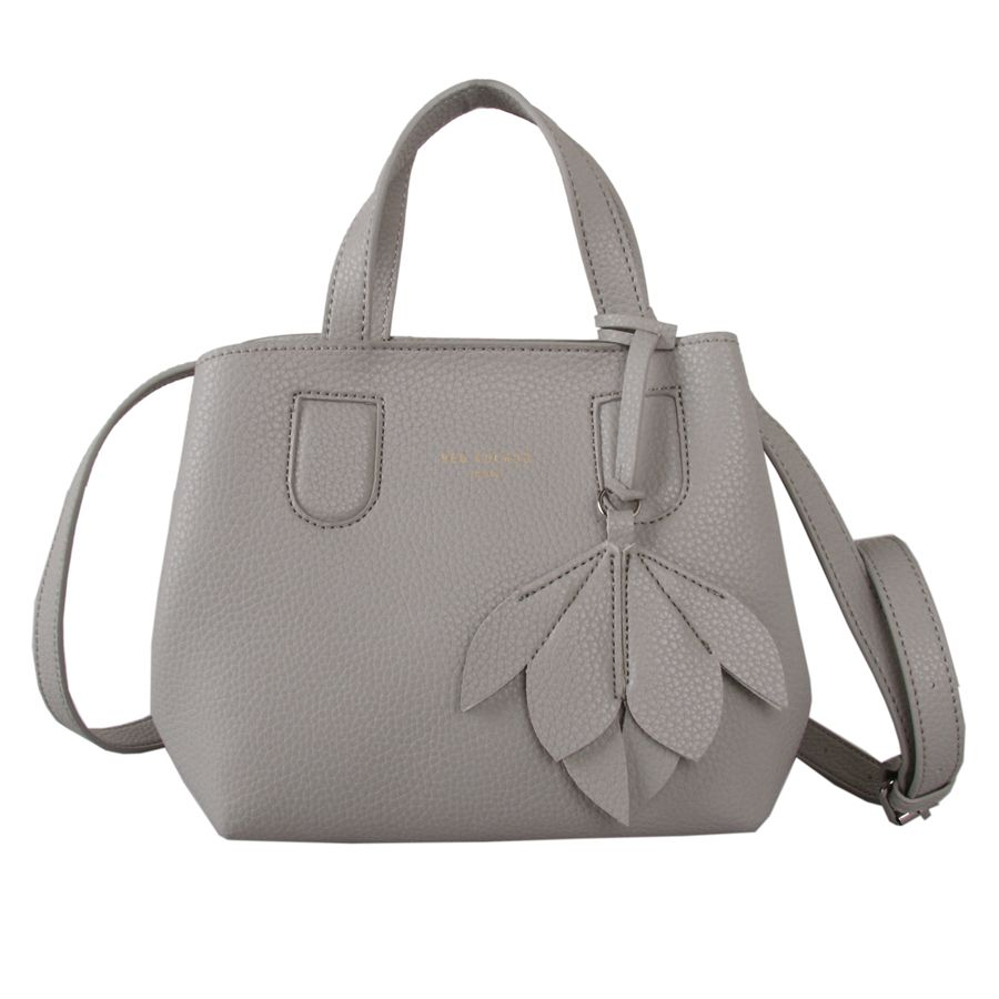 Taupe Grab Bag with Flower Detail by Red Cuckoo