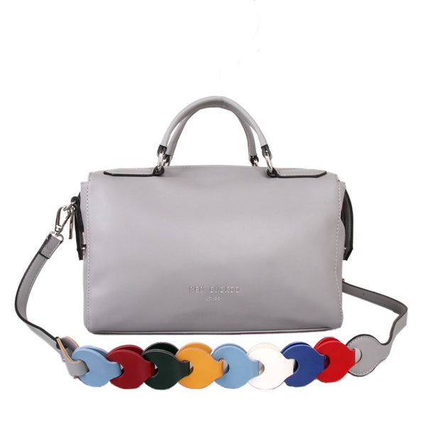 Silver Multi Strap Bowling Bag by Red Cuckoo