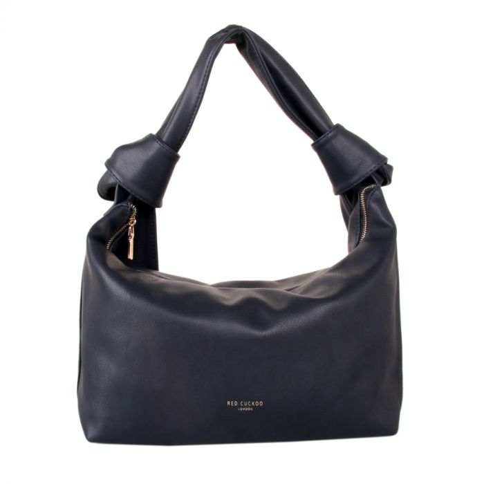 Navy Knot Detail Shoulder Bag by Red Cuckoo