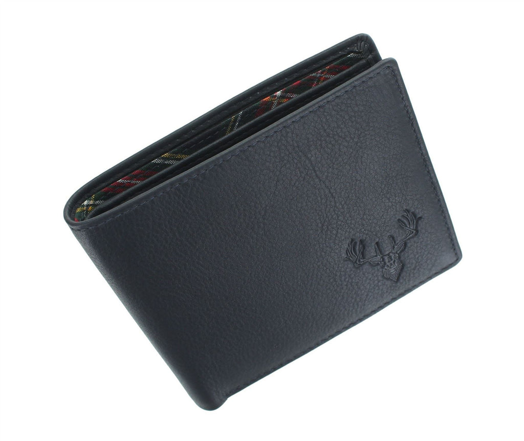 Mala Leather Wallet - Navy Stag