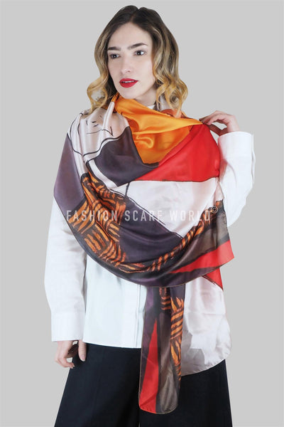 Picasso Portrait Style Print Scarf