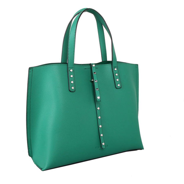 Green Tote Bag With Detachable Pouch by Red Cuckoo