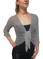 Knitted Shrug Cardigan - Ice Grey