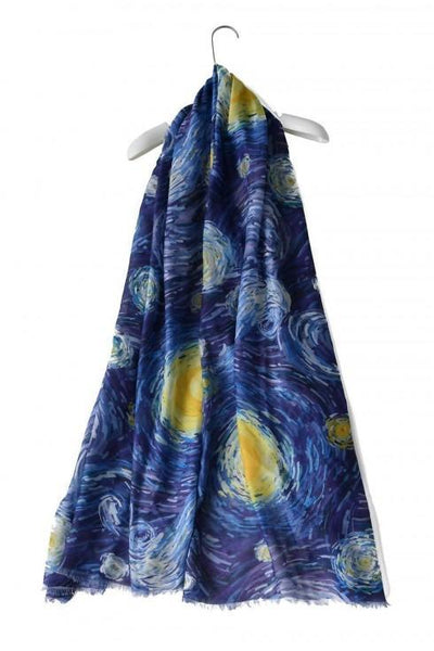 Van Gogh Starry Night Painting Print Scarf