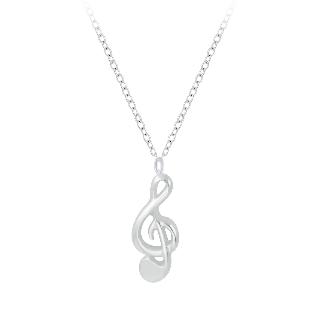 Silver G-Clef Necklace