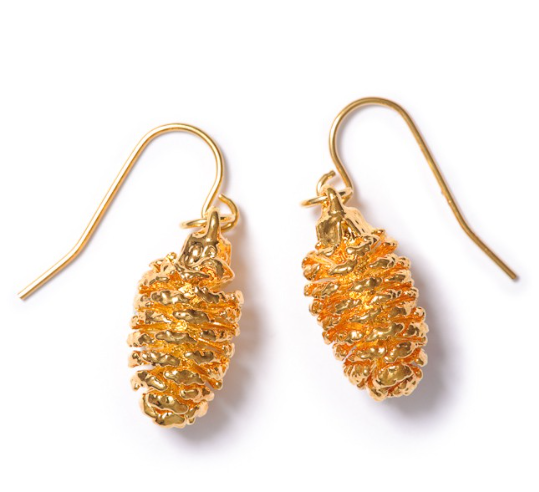 Alder Cone Earrings - Gold
