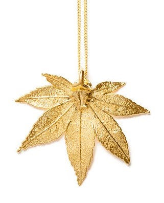 Japanese Maple Pendant - Gold