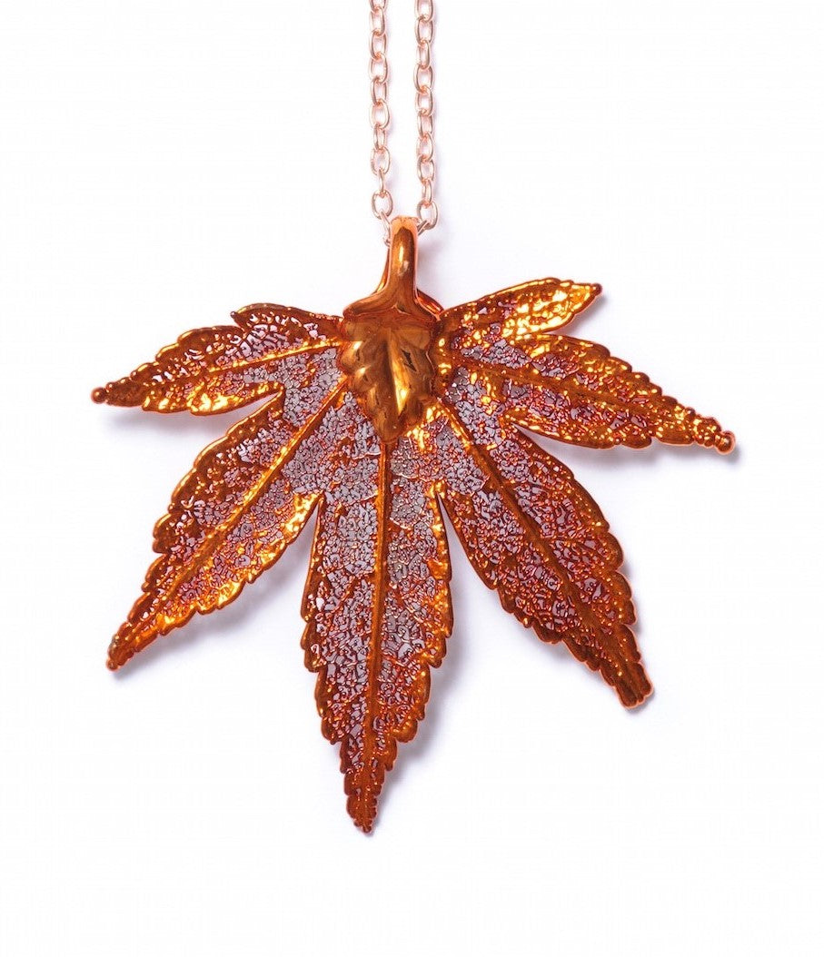 Japanese Maple Pendant - Copper