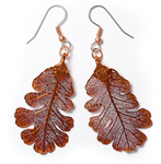Oak Earrings - Copper