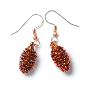 Alder Cone Earrings - Copper