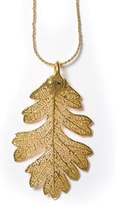 Oak Pendant - Gold