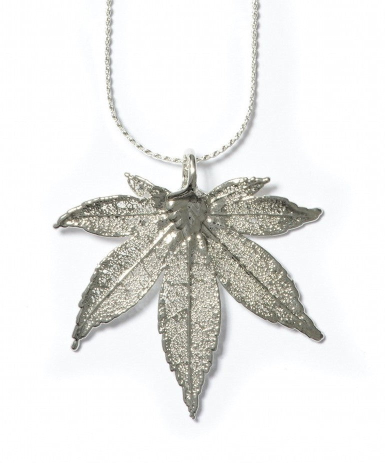Japanese Maple Pendant - Silver