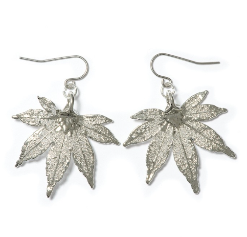 Japanese Maple Earrings - Silver