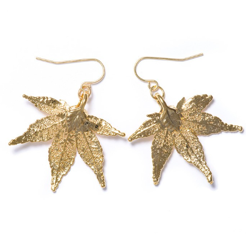 Japanese Maple Earrings - Gold