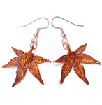 Japanese Maple Earrings - Copper