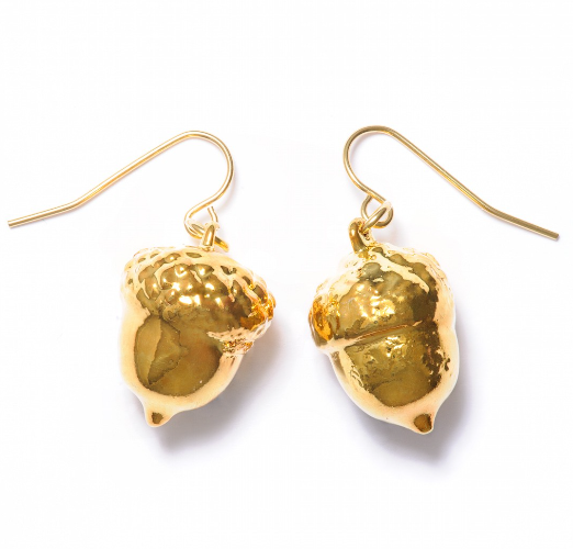 Acorn Earrings - Gold