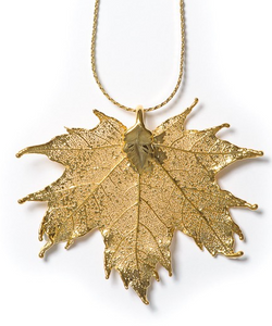 Maple Pendant - Gold