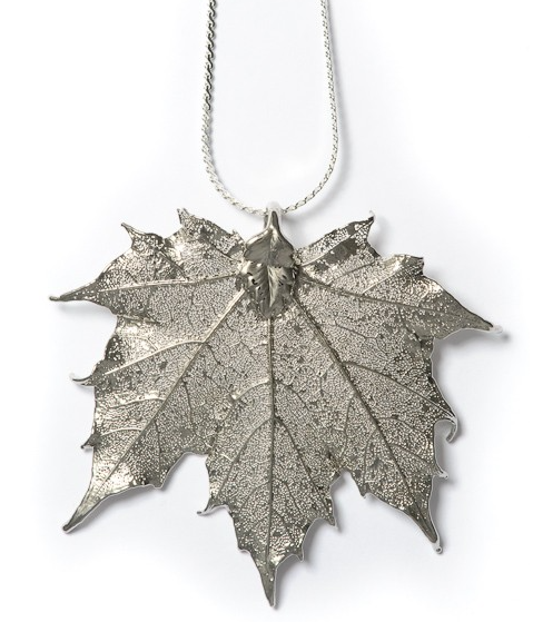 Maple Pendant - Silver