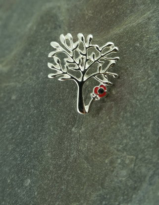 Tree of Life Poppy Brooch