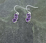 Purple Poppy Drop Earrings