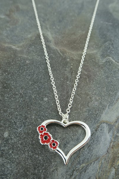 Poppy Necklace - Heart