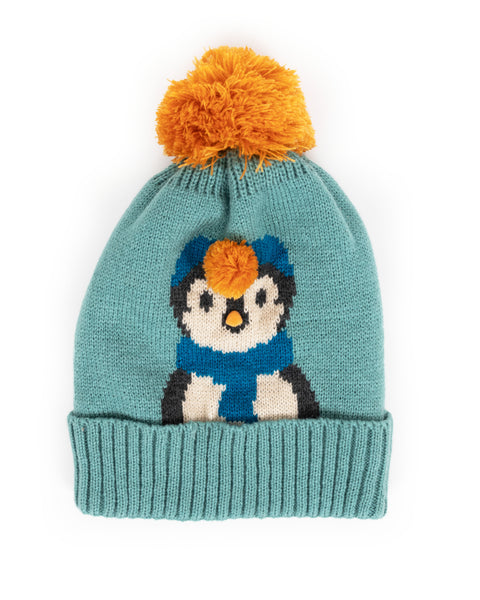 Cosy Penguin Hat - Ice
