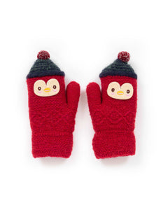 Kids Woolly Penguin Mittens by Powder