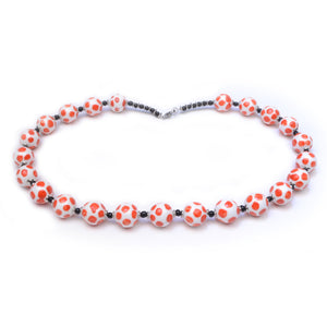 Zukari Dotty Necklace -  Red & White