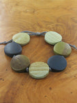 Wooden Bracelet - Mint & Green