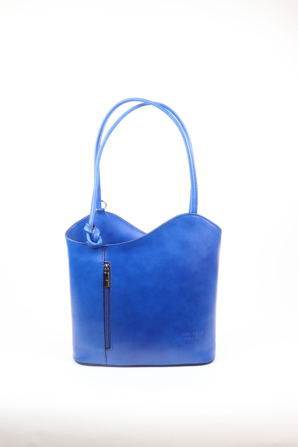 Leather Backpack Handbag - Royal Blue