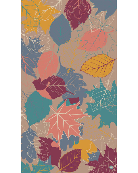 Autumn Leaves Print Scarf by Powder