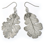 Oak Earrings - Silver