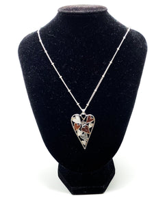 Full of Hearts Necklace - Pink & Silver