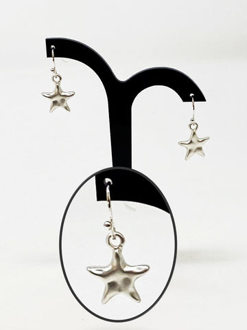 Tiny Stars Silver Earrings