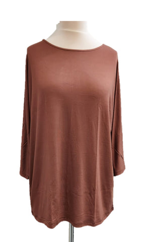 Batwing T-Shirt - Brown