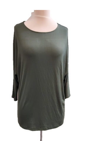 Batwing T-Shirt - Forest Green