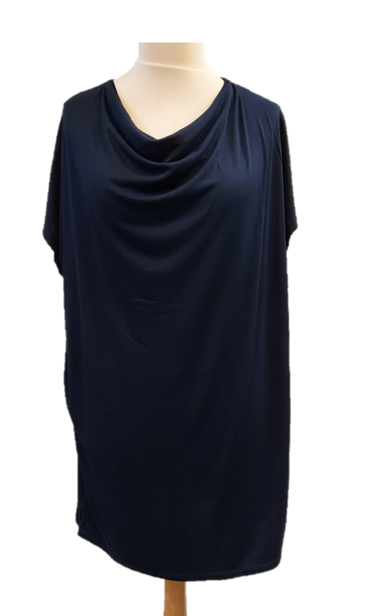 Cowl Neck Top - Navy