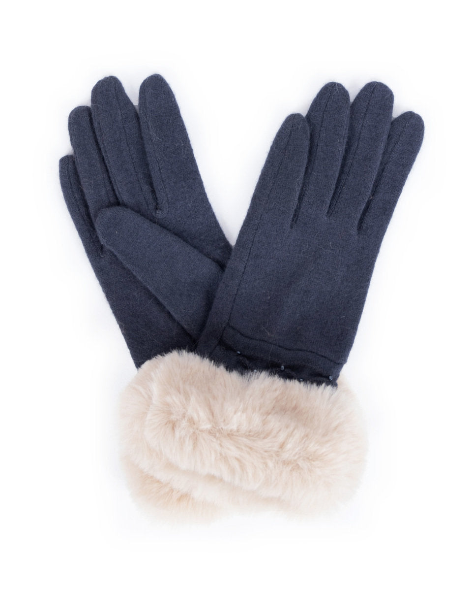 Tamara Wool Gloves by Powder - Charcoal
