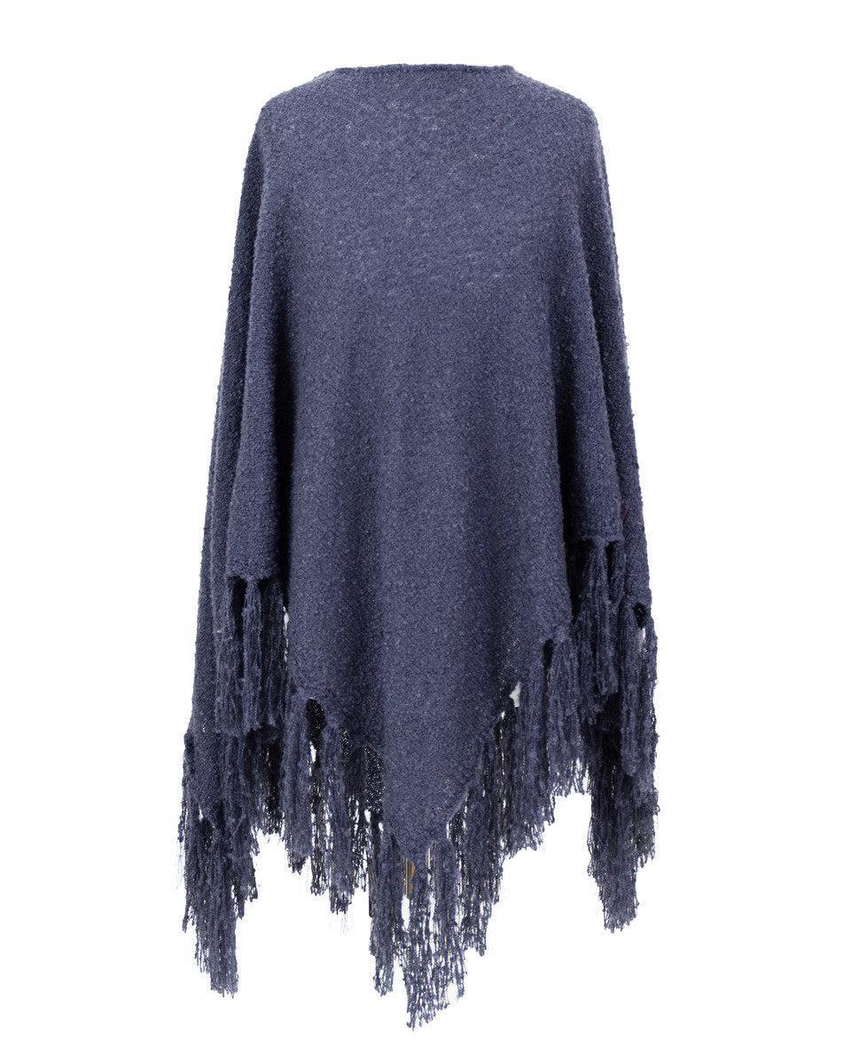 Tara Poncho by Powder - Navy