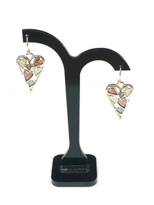 Full of Hearts Earrings - Pink & Silver